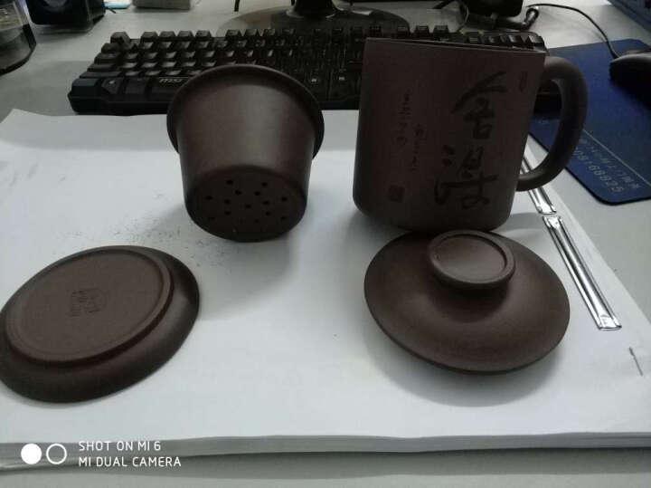 丁山 宜兴紫砂壶 办公泡茶紫砂杯整套茶具套装茶壶茶杯全手工水杯子 B1 舍得 晒单图