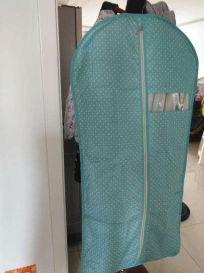 西文 西服防尘罩 衣服罩子 大衣防尘套 衣服防尘袋 衣罩西服套 可水洗 镜花蓝 M(60*100CM) 晒单图