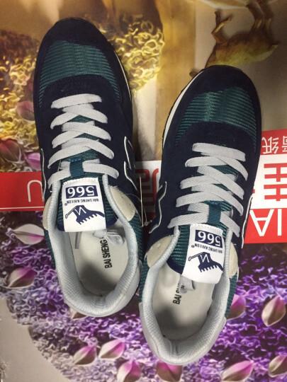 男鞋运动休闲鞋男透气2018新款跑步鞋潮流复古做旧小脏鞋运动鞋子 男加棉 8098永城黑色 39 晒单图