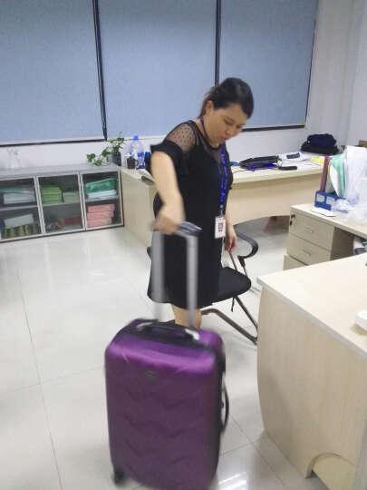 博兿(BOYI)拉杆箱24英寸男女双轴承万向轮旅行箱钻石纹系列行李箱 BY12002紫色 晒单图
