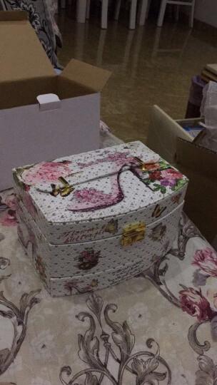 爱惊喜生日礼物女友 首饰盒公主欧式韩国首饰收纳盒饰品盒手饰盒珠宝盒带锁送闺蜜 高跟鞋图案 晒单图