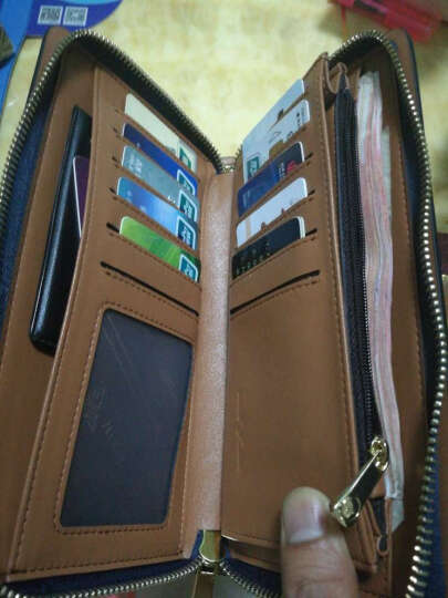 男士手包手拿包信封包手抓包大容量男式时尚休闲商务拉链钱包手包 晒单图