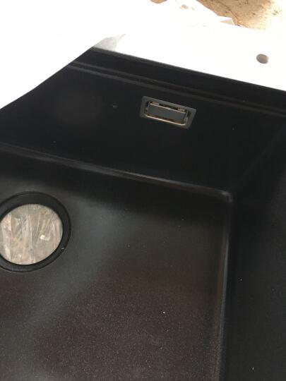 乐唯(LEIVI) 石英石水槽单槽花岗岩厨房洗菜盆洗碗池套餐水池水盆FQ635 635*495珍珠黑高配版 晒单图