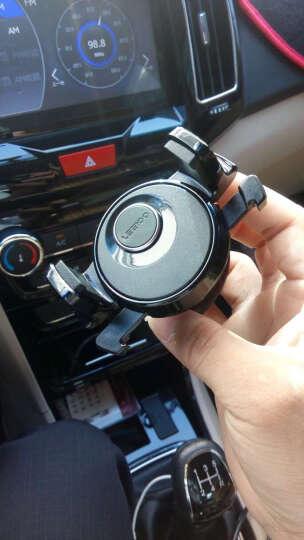 乐益 汽车车载手机支架 360度旋转 空调出风口式  车用多功能支撑架手机座导航仪支架 绅士银 晒单图