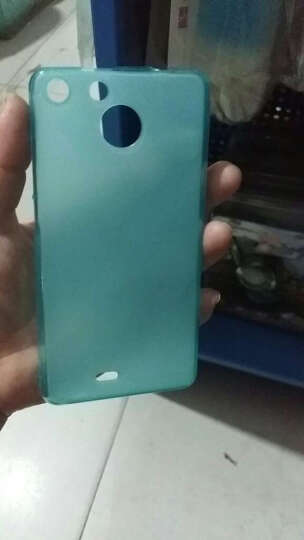 彩盾 斐讯c1330手机壳保护套布丁套软套纯色 适用于斐讯c1330/PHICOM小龙7 布丁套*透蓝 晒单图