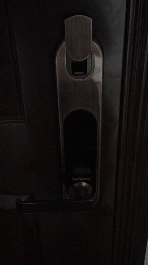 新视图指纹锁防盗门锁家用电子密码锁QQ物联智能锁 红古铜装饰锁 晒单图
