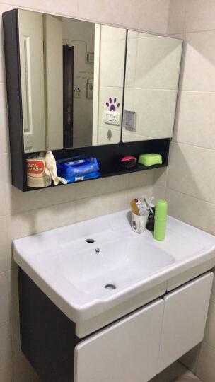 希箭(HOROW)浴室柜组合洗手盆实木洗脸盆柜组合洗漱台套装 雅典·白色80cm【18年全新升级实木加厚】超值款 晒单图
