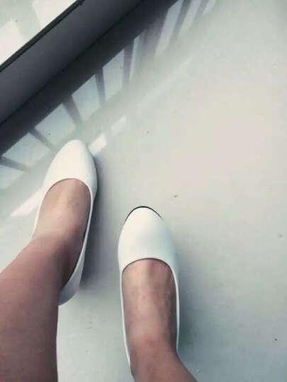 足迹缘欧美高跟鞋女新款结婚伴娘鞋性感百搭水晶鞋尖头女细跟晚礼服高跟单鞋 米色 34 晒单图