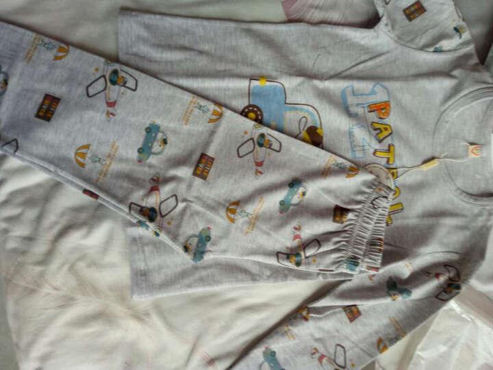 俞兆林 YUZHAOLIN 儿童内衣 莱卡棉睡衣打底秋衣秋裤套装YL16T1450兔先生150码 晒单图