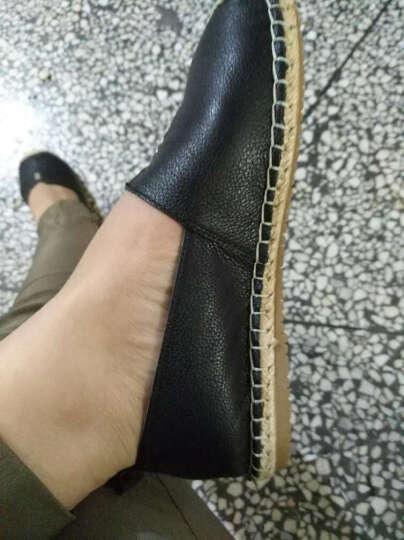 Tata/他她休闲鞋女夏季渔夫鞋子学生单鞋女一脚蹬懒人鞋平底女鞋2FY35AQ7 黑色 36 晒单图