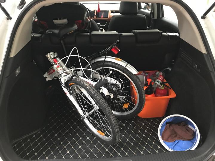 永久自行车 20寸7速高碳钢弓背车架 时尚休闲折叠车   白红色 晒单图