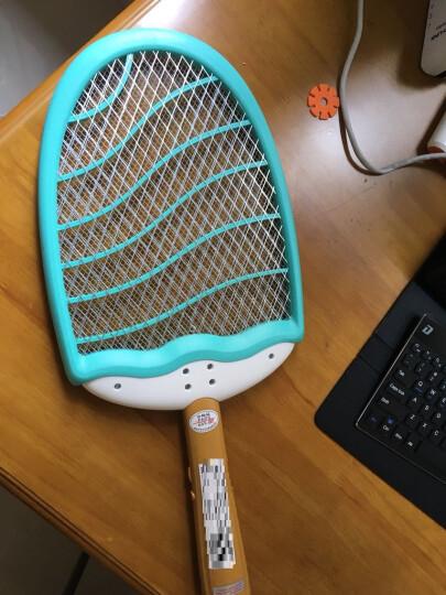 雨花泽(Yuhuaze)摇摇水果冰棒充电式灭蚊拍 电蚊拍三层面网 苍蝇拍驱蚊拍灭蚊器 晒单图