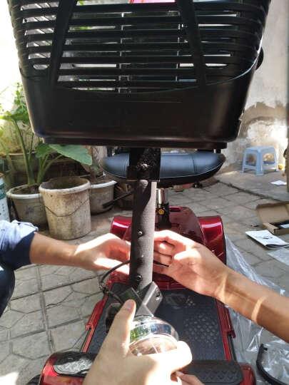 普莱德 老年代步车 F45老人电动车四轮智能折叠老年人代步车 残疾人助力进口老人电动轮椅 F45红色配40A锂电电池续航60KM 晒单图