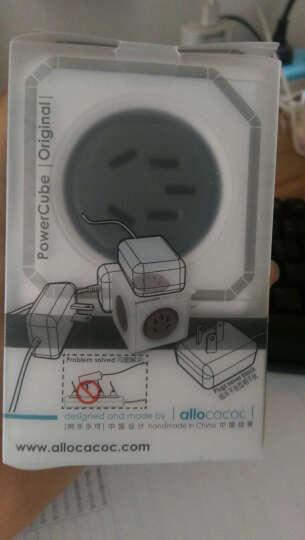 阿乐乐可allocacoc模方插座面板带usb插排创意桌面立式排插五孔转换器 无USB/无延长线 直插灰(五孔) 晒单图