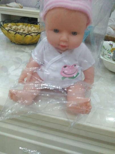 宝诚达智能塑胶仿真婴儿小娃娃洗澡洋娃娃软胶宝宝早教安抚玩具 红色衣服30CM 晒单图