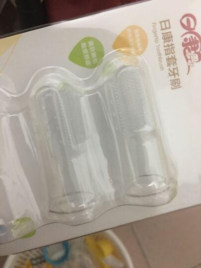 【春节不打烊】日康(rikang)婴儿指套牙刷宝宝手指牙刷硅胶软头婴幼儿童乳PK-3504 指套牙刷6只装+小树苗25g牙膏 晒单图