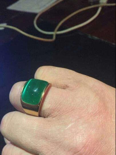 添百丽钛钢男士戒指 时尚霸气潮个性单身食指镀真金款 霸气戒指10号 晒单图