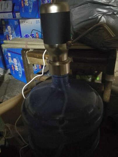 巧工坊 自动纯净水桶取水器大桶水电动桶装水抽水器饮水机器泵饮用水桶支架吸水压水器加水上水器 酷黑 晒单图