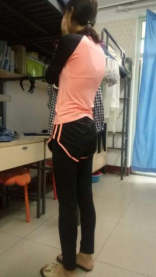 瑜伽服女套装二件套三件套五件套健身服女跑步运动套装女 灰色2件套短袖短裤 S 晒单图