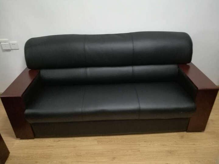 黎富办公家具办公沙发客厅午休办公室沙发三人位沙发茶几组合办公商务接待沙发 3+1沙发+大茶几 西皮 晒单图