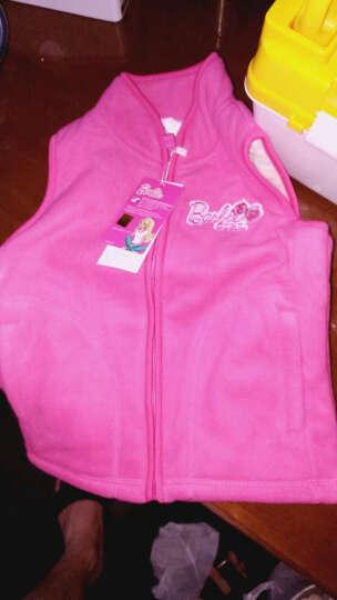 芭比(Barbie) 芭比儿童马甲摇粒绒宝宝坎肩秋冬女孩小孩马夹女童装开衫背心上衣 厚款 93623粉色 120适合115-125 晒单图