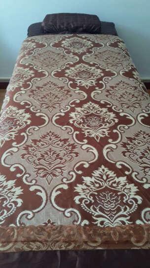 家逸纺 全棉美容床罩 美容SPA床罩纯棉被里提花美容院四件套美容床罩 前沿时尚-咖 80x200以内床通用四件套 晒单图
