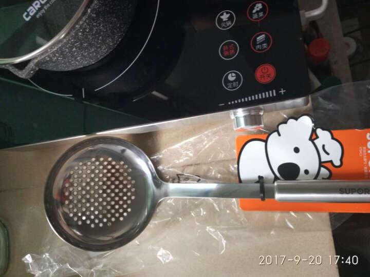 苏泊尔(SUPOR) 不锈钢多功能自由组合配件 炒菜铲子 捞勺 滤网捞面条 大漏勺-KT04C2 晒单图