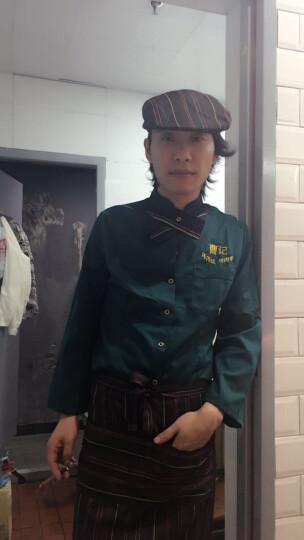 布致 服务员工作服长袖秋装酒店服务员工作服餐厅饭店餐饮酒店工作服工装 绿色女款短袖上衣+围裙 L 晒单图