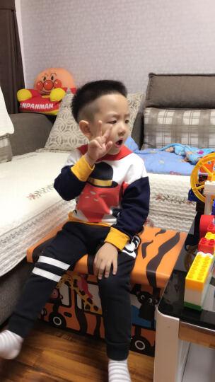 大眼睛比布(BABiBOO)童装新品儿童秋装男女童长袖T恤宝宝棉卫衣连帽上衣 浅灰色 120 晒单图