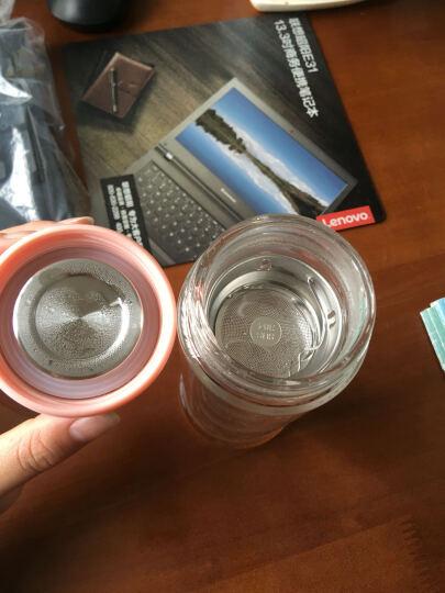 卡西菲 双层玻璃杯 创意便携可爱水杯女 柠檬杯办公随手杯子茶水分离加厚耐热水晶花茶杯 活力橙 280ml 晒单图