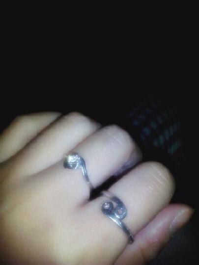 炫银部落 925银十二星座戒指 情侣对戒 开口设计 韩版银饰 时尚饰品 3006006 巨蟹座 晒单图