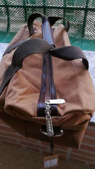 小米世家新款帆布旅行包男 大容量手提单肩包 出差旅游包女挎包 行李包 摩登灰 大号 晒单图