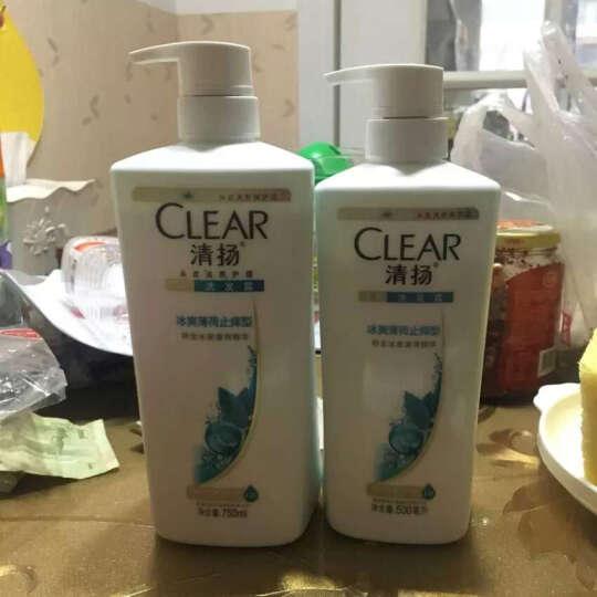 清扬(CLEAR)洗发水 去屑洗发露海藻菁萃型750g 无硅油(新老包装随机发) 晒单图