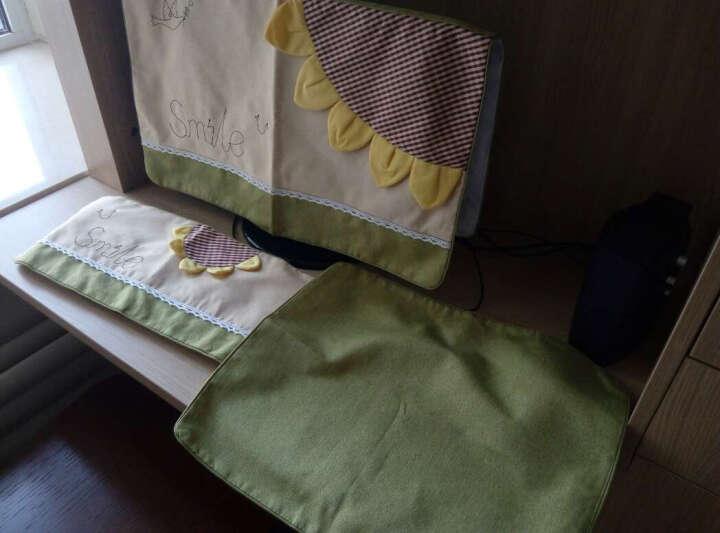 欣伊 布艺笔记本套 电脑罩 电脑套 可爱防尘罩 笔电一体机保护罩 向日葵 适合23-24寸单片显示器罩 晒单图