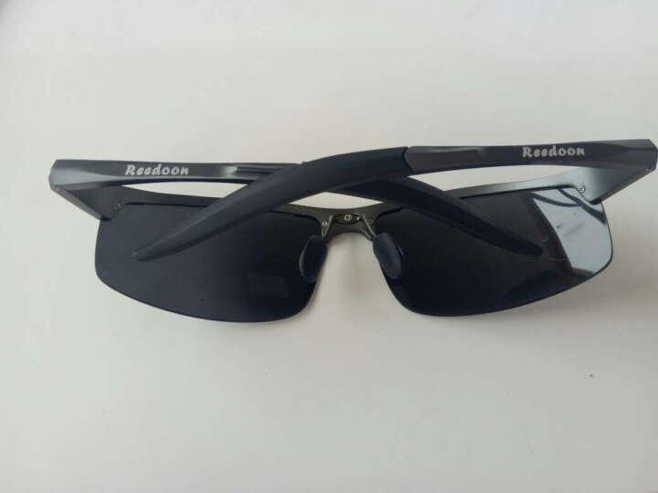 锐盾 防爆偏光镜太阳镜男士司机驾驶镜大脸太阳眼镜开车眼睛墨镜 黑框--(无度数原装宝丽来镜片 晒单图