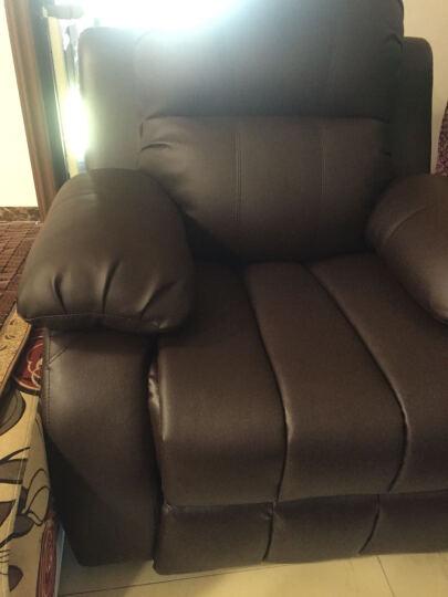 慕适 沙发 真皮沙发 现代简约沙发小户型 三人沙发 四人沙发客厅整装组合 123双人沙发办公组合 三人沙发+脚踏(备注颜色) 晒单图