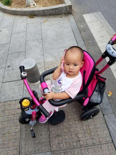 五祥铝合金儿童三轮车脚踏车宝宝三轮车玩具车自行车婴儿推车 双向铝合金枚红色 晒单图