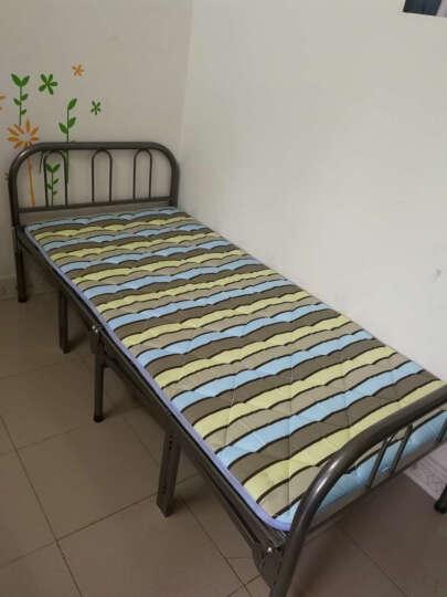 艾多丽折叠床居家陪护单人床碳钢双人铁床办公室简易午休床户外行军钢丝床 银色90cm宽 晒单图