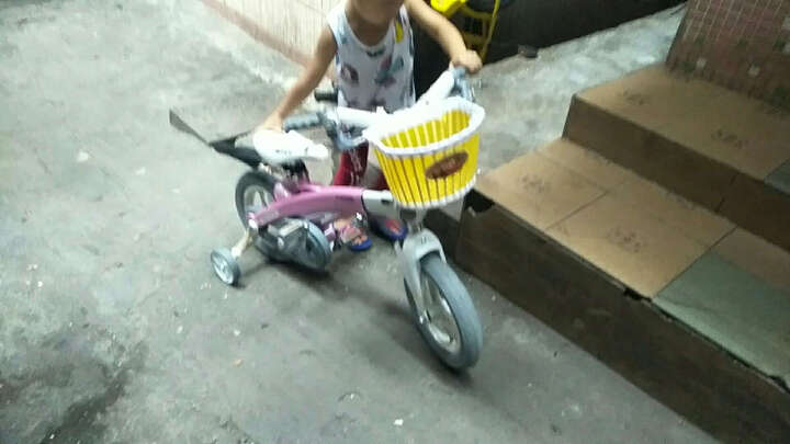 健儿(jianer) 【送护具车篮】健儿 儿童自行车男可伸缩童车单车12/14/16寸 经典款后轮碟刹--赠礼包-天湖蓝 14 晒单图