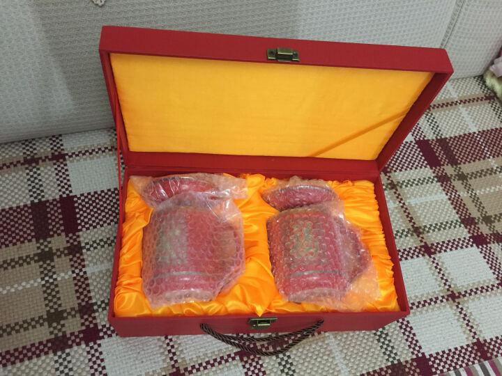 御品坊 祝寿礼品 带盖泡茶水杯 赠送长辈朋友 感恩父母礼物 寿宴回礼 红色福寿对杯 礼品LG私人定制 中国红瓷百福杯 晒单图