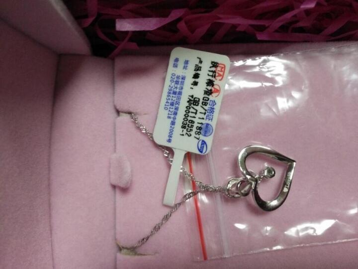 雅茗925银项链女士首饰品钻石吊坠锁骨链 晒单图