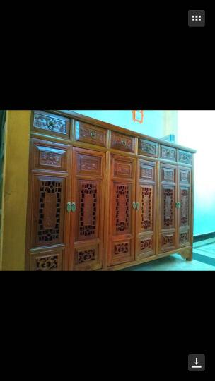 尤亚(YOUYA)  鞋柜 榆木家具 明清古典仿古中式实木鞋柜 储物柜 大容量玄关柜 明清仿古鞋柜(四门) 晒单图