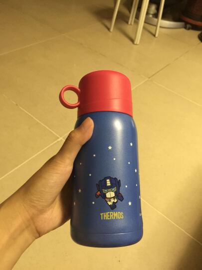 膳魔师THERMOS  儿童保温杯 吸管杯学饮杯两用水杯 变形金刚 550ml  TCKA-550 TF002 晒单图