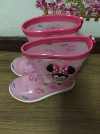 迪士尼儿童雨鞋男女童学生防水鞋中筒防滑宝宝雨靴 MP16151粉红 37码/鞋垫长24.3cm-适合39/40码 晒单图