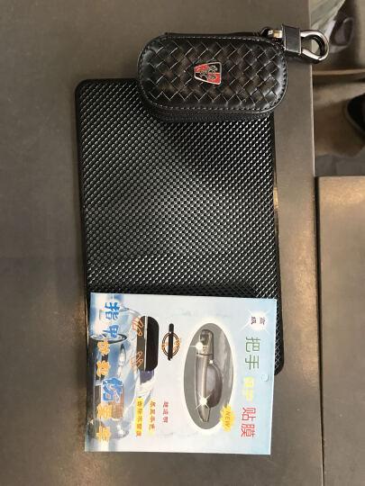 潜劲 汽车真皮钥匙包 大众奔驰奥迪沃尔沃路虎别克本田福特丰田日产凌志起亚现代钥匙包皮套扣 奔驰车标A级B级C级S级GLK260ML300 咖啡色--金扣 晒单图