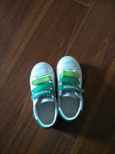 蜡笔小新 儿童运动鞋2017夏季新款男童女童凉鞋 沙滩洞洞板鞋 白绿 28 晒单图