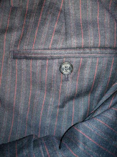 3色可选JUDGER庄吉 特价西裤男大码免烫 单西裤 中年男士西裤休闲款 西裤男中年裤子 藏蓝条纹 170/82A/2.52尺 晒单图