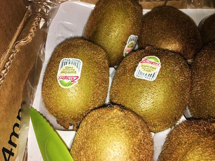 Zespri佳沛 新西兰有机绿奇异果 大果25-27个 原箱装 约3.3kg 晒单图