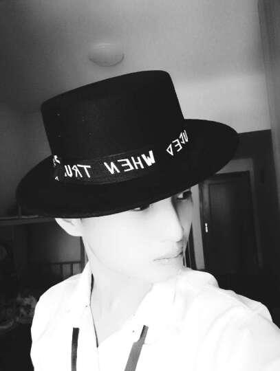 晚枫物语秋冬圆顶复古英伦平顶小礼帽毛呢圆帽男女爵士帽休闲旅游帽子 蝴蝶结 驼色 晒单图