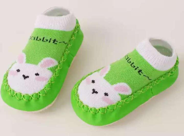 喜得瑞春秋婴幼儿童地板袜男女宝宝地板袜婴儿袜套纯棉防滑厚底学步鞋 蚂蚁款(单双装) 底长约11厘米 内长约10.5厘米 晒单图